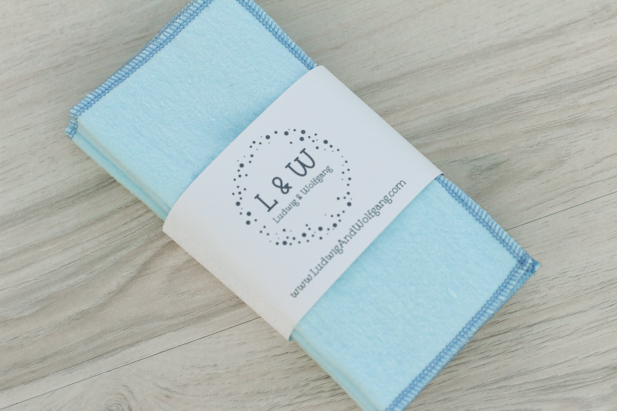 Bundle of Wipes (6 Light Blue, 2-Ply Flannel)